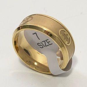 Other - Men's Gold Tone Batman Ring, Size 7 Men's